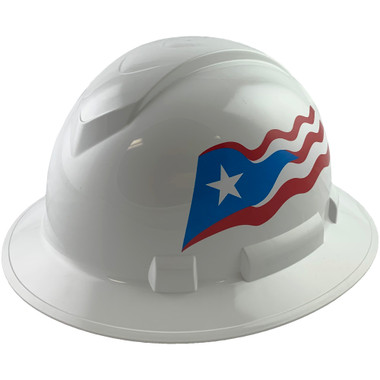 Pyramex Ridgeline Full Brim Hard Hats White - Oblique View