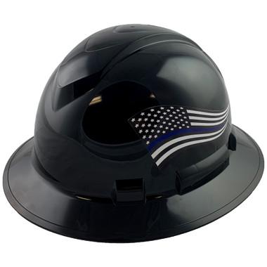 Pyramex Ridgeline Full Brim Hard Hats Black - Oblique View