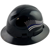 Pyramex Ridgeline Full Brim Hard Hats Black - Oblique View