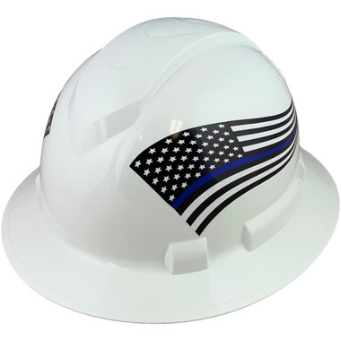 Pyramex Ridgeline Full Brim Hard Hats White - Oblique View