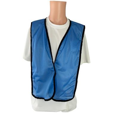 Sky Blue Soft Mesh Plain Safety Vest