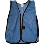Sky Blue Soft Mesh Plain Safety Vest