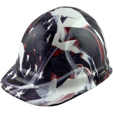 Faded Glory Design Cap Style Hydro Dipped Hard Hats - Oblique View
