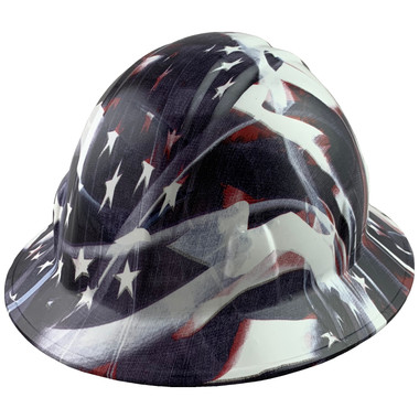 Faded Glory Design Full Brim Hydro Dipped Hard Hats - Oblique View