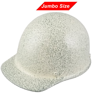 MSA Skullgard (LARGE SHELL) Cap Style Hard Hats with Ratchet Suspension - Textured Stone - Oblique View