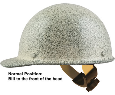MSA Skullgard Cap Style Hard Hats With Swing Suspension Textured Stone - Swing Suspension in Normal Position