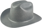 Outlaw Cowboy Hardhat with Ratchet Suspension Textured Granite Gray - Oblique View