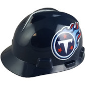 Tennessee Titans Hard Hats Cap Style with Fas-Trac III Suspensions - Dark Blue Oblique