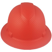 Pyramex Ridgeline Full Brim Style Hard Hat with Red Graphite Pattern Front