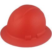 Pyramex Ridgeline Full Brim Style Hard Hat with Red Graphite Pattern