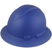Pyramex Ridgeline Full Brim Style Hard Hat with Blue Graphite Pattern