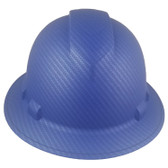 Pyramex Ridgeline Full Brim Style Hard Hat with Blue Graphite Pattern Oblique