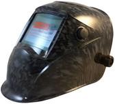 Hydro Dipped Auto Darkening Welding Helmet – Reaper Skulls Design ~ Oblique View