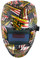 Hydro Dipped Auto Darkening Welding Helmet – USA Flag Design ~ Detail