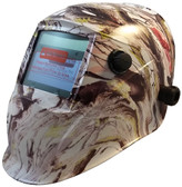 Hydro Dipped Auto Darkening Welding Helmet – American Camo Design ~ Oblique View
