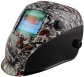 Hydro Dipped Auto Darkening Welding Helmet – Texas Pride Design ~ Left Side Oblique View