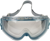 Uvex Stealth Safety Goggles with Clear Lens - Teal Frame ~ Front View