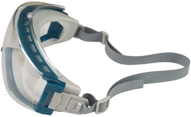 Uvex Stealth Safety Goggles with Clear Lens - Teal Frame ~ Left Side View