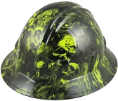Corona Jane Design Full Brim Hydro Dipped Hard Hats ~ Oblique View