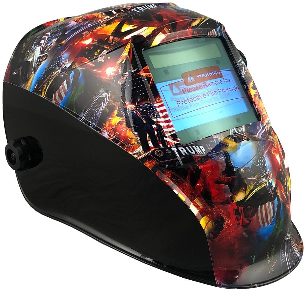 Hydro Dipped Auto Darkening Welding Helmet Trump All Stars Design