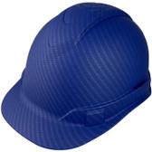 Pyramex Full Brim RIDGELINE Hard Hat Blue Pattern - 4 Point Suspensions ~ Left Side Oblique View