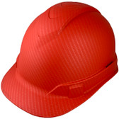 Pyramex Cap Style RIDGELINE Hard Hat Red Pattern - 4 Point Suspensions ~ Left Side Oblique View