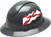 Pyramex Ridgeline Full Brim Hard Hats - Alabama Flag - Profile View