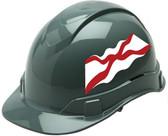 Pyramex Ridgeline Cap Style Hard Hats - Alabama Flag - Profile View