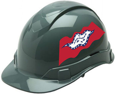 Pyramex Ridgeline Cap Style Hard Hats - Arkansas Flag ~ Profile