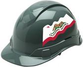 Pyramex Ridgeline Cap Style Hard Hats - California Flag ~ Profile