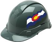 Pyramex Ridgeline Cap Style Hard Hats - Colorado Flag ~ Profile
