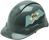 Pyramex Ridgeline Cap Style Hard Hats - Delaware Flag ~ Profile