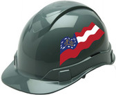 Pyramex Ridgeline Cap Style Hard Hats - Georgia Flag ~ Profile