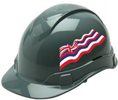 Pyramex Ridgeline Cap Style Hard Hats - Hawaii Flag ~ Profile