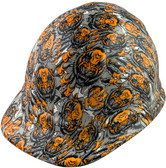 Fighting Tiger Design Cap Style Hydro Dipped Hard Hats - Oblique View