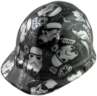 Star Wars Stormtrooper Cap Style Hydro Dipped Hard Hats - Oblique View