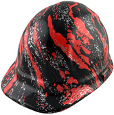 Rip and Tear Cap Style Hydro Dipped Hard Hats - Oblique View