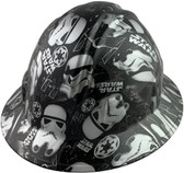 Star Wars Stormtrooper Design Full Brim Hydro Dipped Hard Hats - Oblique View