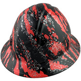 Rip and Tear Design Full Brim Hydro Dipped Hard Hats - Oblique View