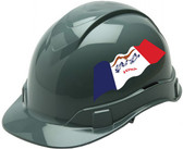 Pyramex Ridgeline Cap Style Hard Hats - Iowa Flag ~ Profile