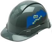 Pyramex Ridgeline Cap Style Hard Hats - Kansas Flag ~ Profile