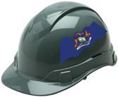 Pyramex Ridgeline Cap Style Hard Hats - Michigan Flag ~ Profile