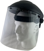Pyramex Standard Polycarbonate Clear Faceshield with Headgear
