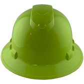 Pyramex Ridgeline Vented Lime Full Brim Style Hard Hat - 6 Point Suspensions