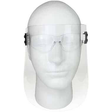 ERB Clip-On Disposable Face Shield with Gateway Starlite Safety Glasses w/ Clear Lens (KIT-4160-4680)