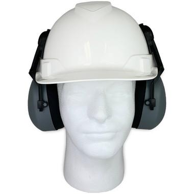 Pyramex Ridgeline Cap Style hard hat with Earmuff Attachment (KIT-HP44110-CM6010)