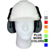 Pyramex Ridgeline Cap Style hard hat with Earmuff Attachment
