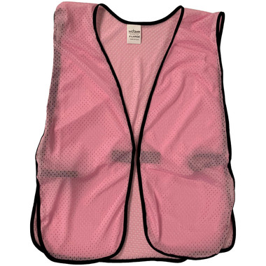 Light Pink Soft Mesh Plain Safety Vest