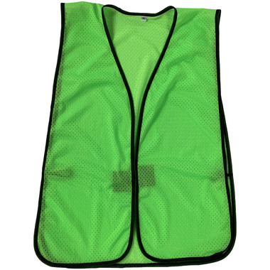 Light Green Soft Mesh Plain Safety Vest