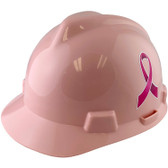 Cap Style Breast Cancer Awareness Ribbon Hard Hats